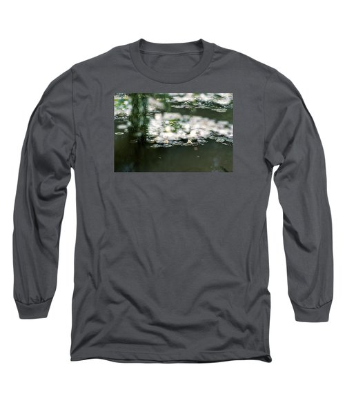 Long Sleeve T-Shirt featuring the photograph At Claude Monet's Water Garden 5 by Dubi Roman