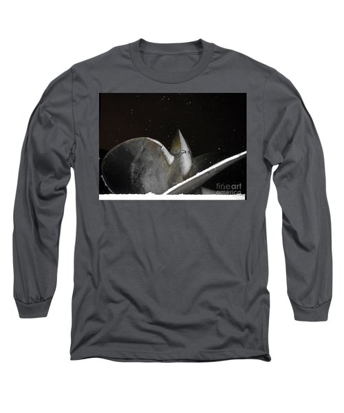 At Night In The Winter Long Sleeve T-Shirt by Yury Bashkin