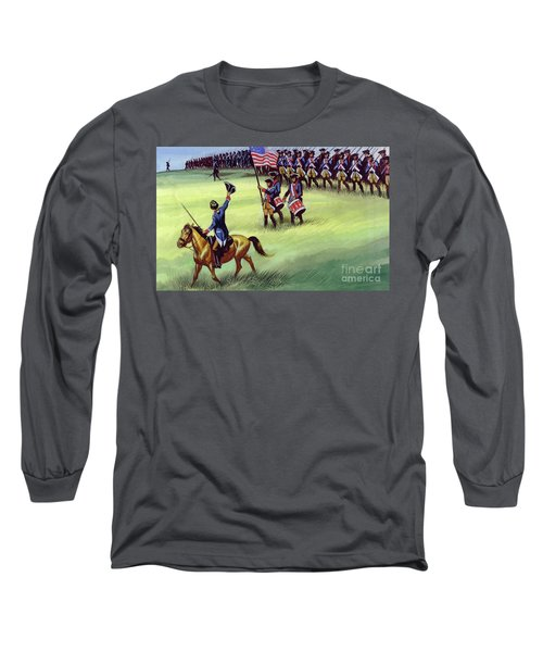 At Saratoga The Colonists Won Victory Long Sleeve T-Shirt