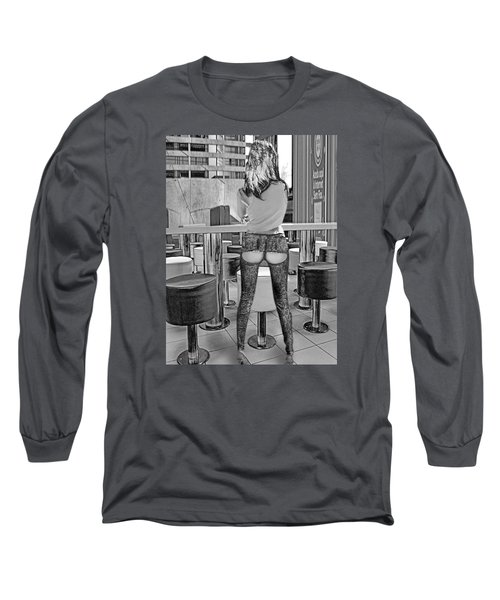 At The Bar Long Sleeve T-Shirt by Emada Photos