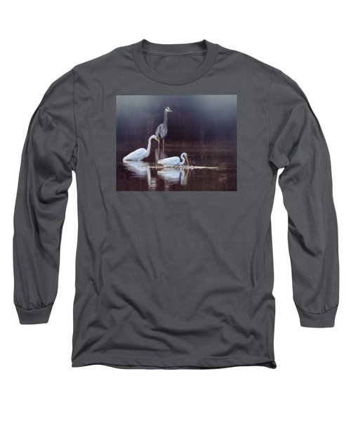At The Fishing Pond Long Sleeve T-Shirt by Susi Stroud