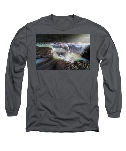 At The Top Of Lower Lewis River Falls Long Sleeve T-Shirt