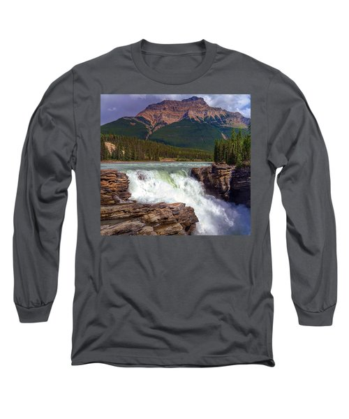 Athabasca Falls Long Sleeve T-Shirt by Heather Vopni