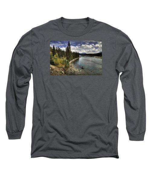 Athabasca River Long Sleeve T-Shirt by John Gilbert