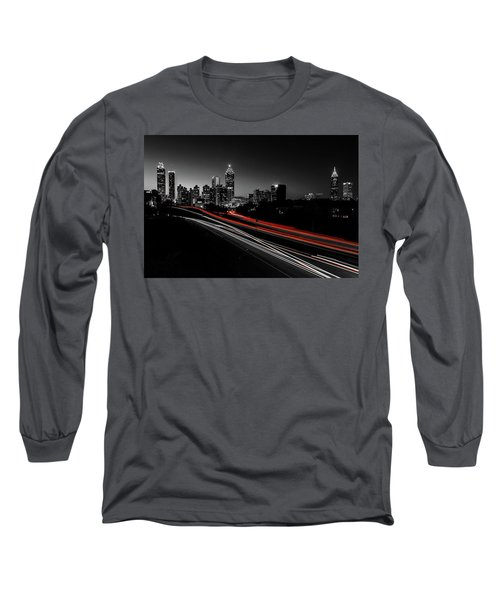 Atlanta Black And White Long Sleeve T-Shirt