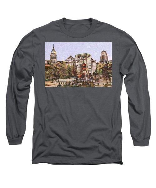 Atlanta Georgia Usa - Color Pencil Long Sleeve T-Shirt