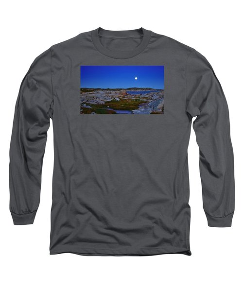 Atlantic Moon  Long Sleeve T-Shirt by Heather Vopni