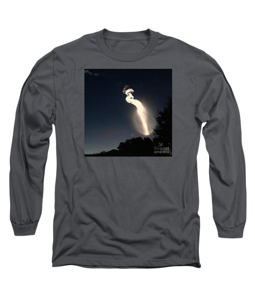 Long Sleeve T-Shirt featuring the photograph Atlas V Launch Flare by AnnaJo Vahle