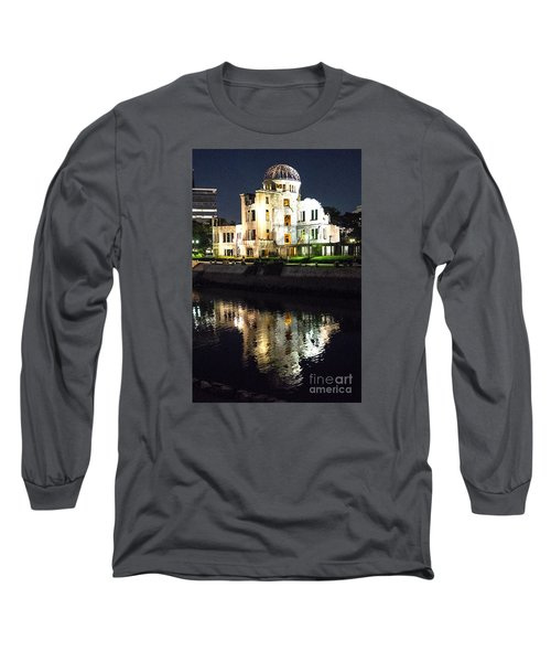 Long Sleeve T-Shirt featuring the photograph Atomic Dome - Symbol Of Destruction And Hope by Pravine Chester