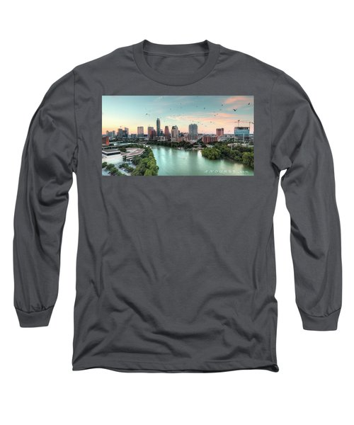 Atx Bats Long Sleeve T-Shirt by Andrew Nourse