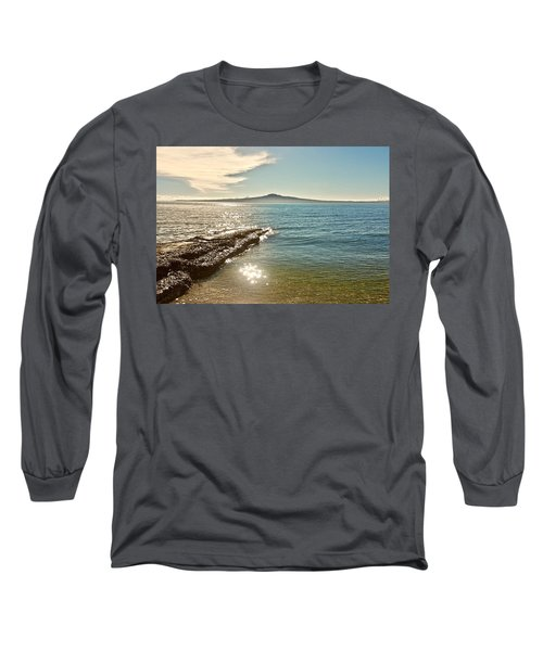 Auckland Harbour On A Winter's Afternoon Long Sleeve T-Shirt