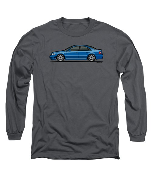 Audi A4 S4 Quattro B5 Type 8d Sedan Nogaro Blue Long Sleeve T-Shirt by Monkey Crisis On Mars
