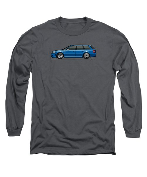 Audi Rs4 A4 Avant Quattro B5 Type 8d Wagon Nogaro Blue Long Sleeve T-Shirt