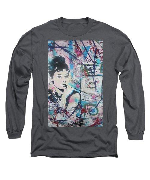 Audrey Chanel Long Sleeve T-Shirt