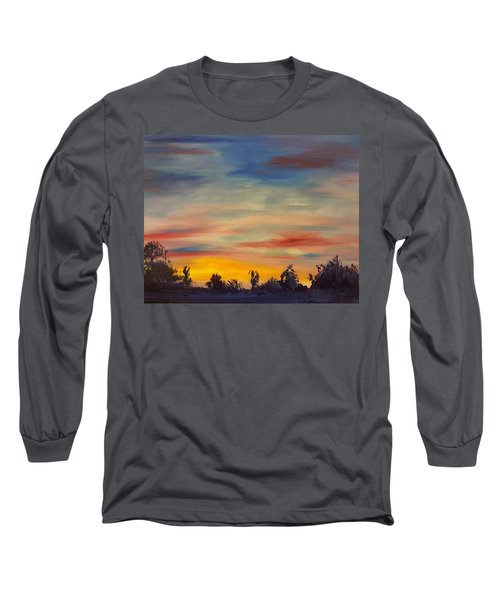August Sunset In Sw Montana Long Sleeve T-Shirt