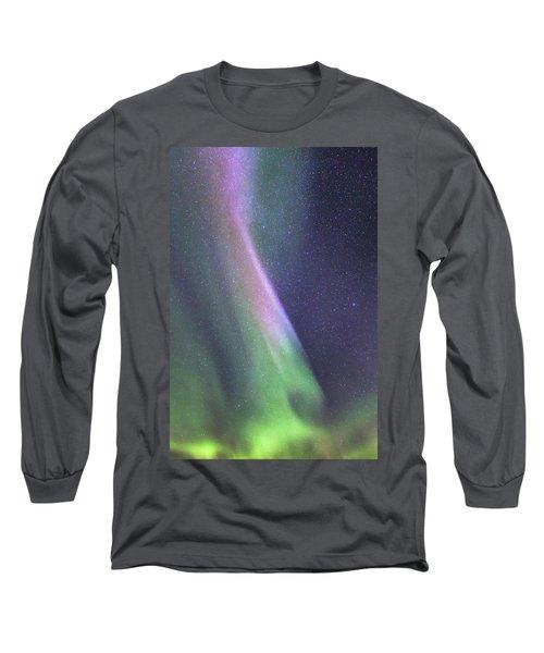 Long Sleeve T-Shirt featuring the photograph Aurora Abstract by Hitendra SINKAR