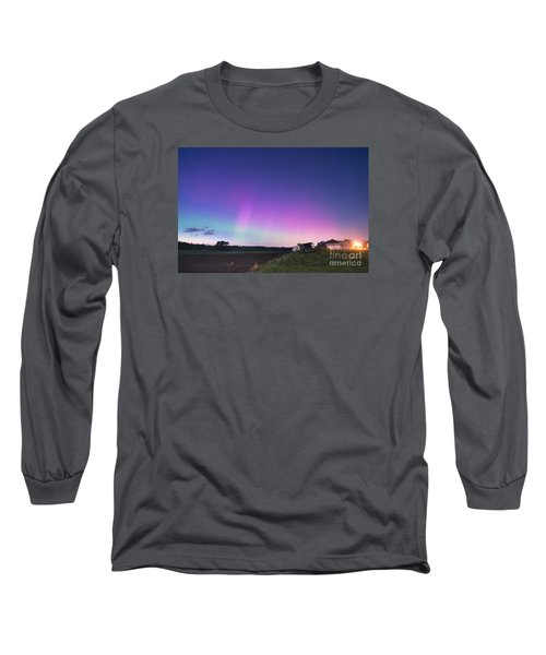 Aurora Energized Pepper Fields Long Sleeve T-Shirt by Patrick Fennell