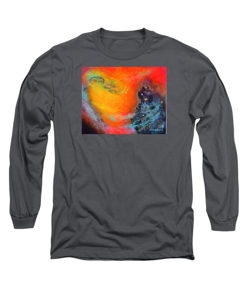 Fantasies In Space Series Painting. Aurora Galaxy Long Sleeve T-Shirt