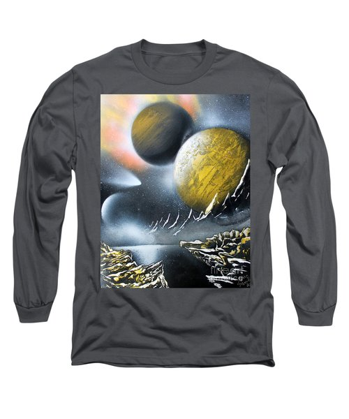 Long Sleeve T-Shirt featuring the painting Aurora by Greg Moores