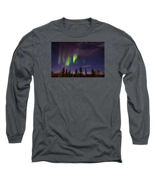 Aurora Nights Long Sleeve T-Shirt by Serge Skiba
