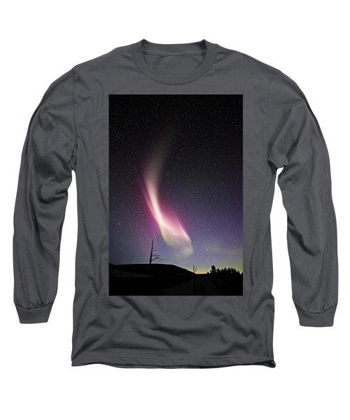 auroral Phenomonen known as Steve 3 Long Sleeve T-Shirt