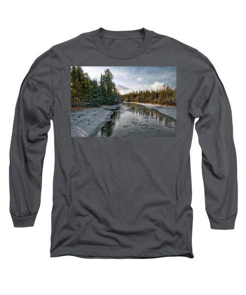 Ausable River 1282 Long Sleeve T-Shirt by Michael Peychich
