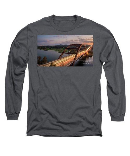 Austin 360 Bridge At Night Long Sleeve T-Shirt