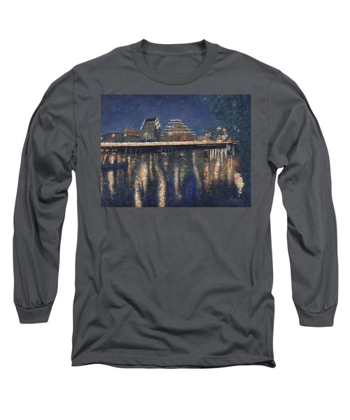 Austin At Night Long Sleeve T-Shirt by Felipe Adan Lerma