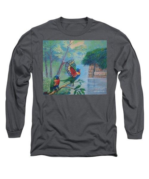 Australian Rainbow Parrots Long Sleeve T-Shirt