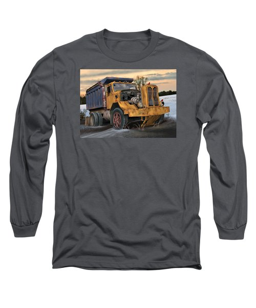 Autocar Dumptruck Long Sleeve T-Shirt by Stuart Swartz