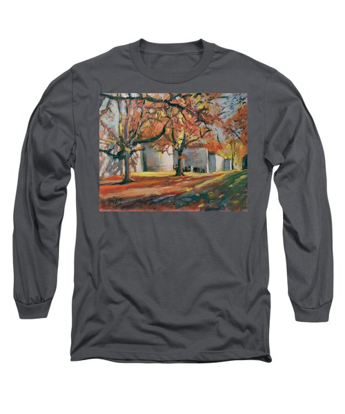 Autumn Along Maastricht City Wall Long Sleeve T-Shirt by Nop Briex