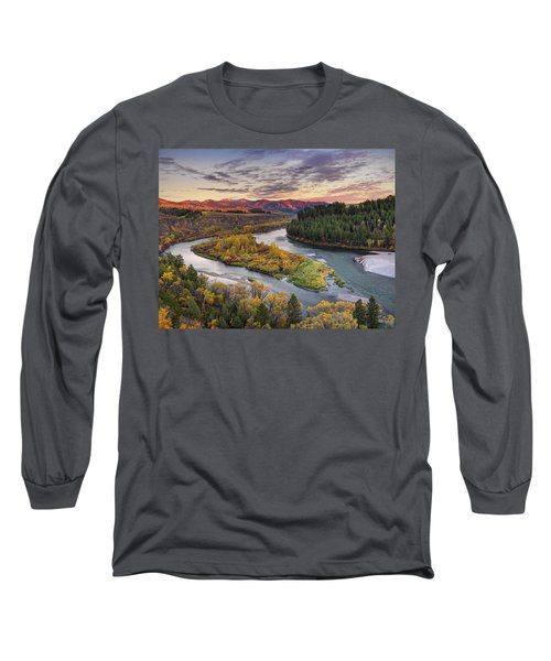 Autumn Along The Snake River Long Sleeve T-Shirt