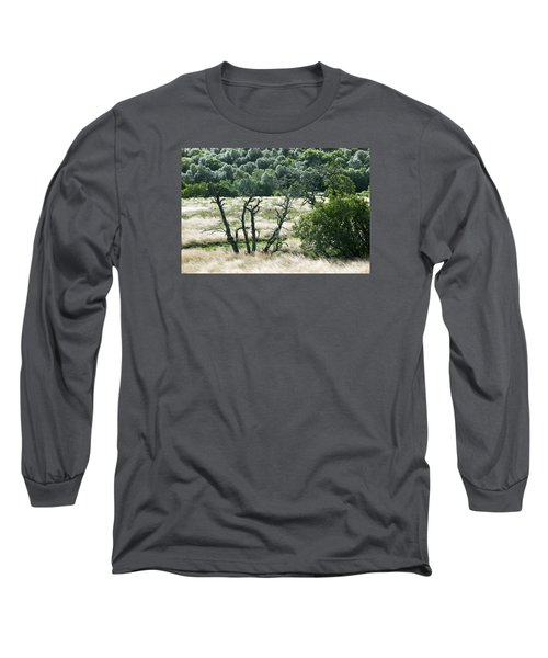 Autumn And Grass In Isle Of Skye, Uk Long Sleeve T-Shirt by Dubi Roman
