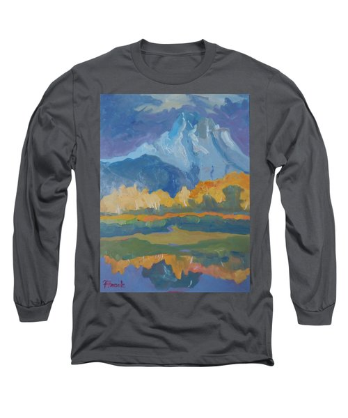 Long Sleeve T-Shirt featuring the painting Autumn At Mt. Moran by Francine Frank