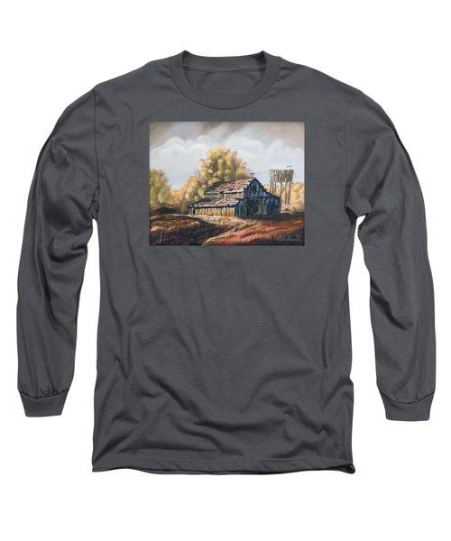 Autumn Barnyard Long Sleeve T-Shirt by Sherril Porter