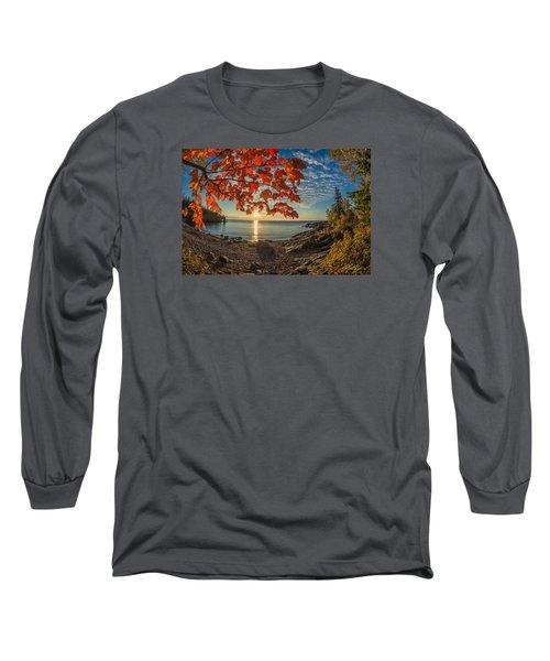 Autumn Bay Near Shovel Point Long Sleeve T-Shirt