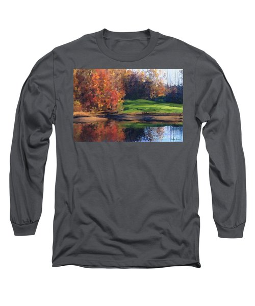 Autumn By Water Long Sleeve T-Shirt