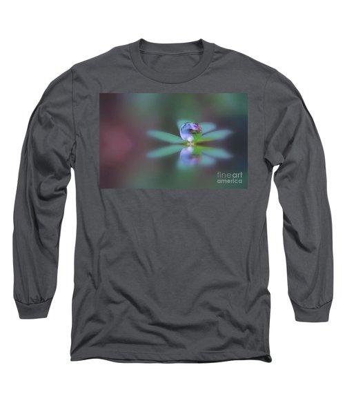 Autumn Clover Droplet Long Sleeve T-Shirt by Kym Clarke