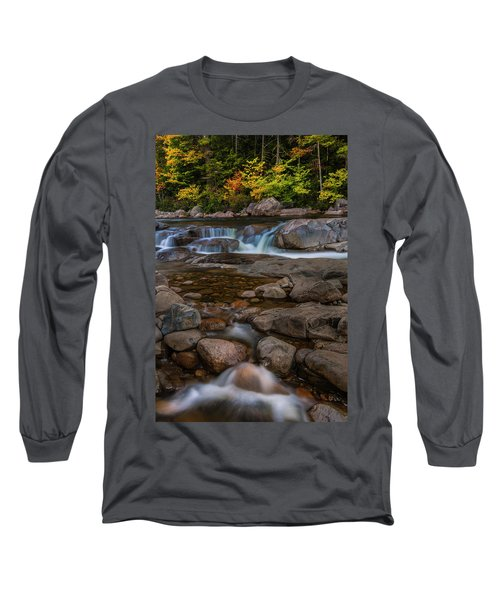Long Sleeve T-Shirt featuring the photograph Autumn Colors In White Mountains New Hampshire by Ranjay Mitra