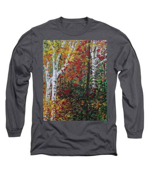 Autumn Colors Long Sleeve T-Shirt by Mike Caitham