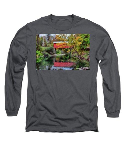 Autumn Colors Over Slaughterhouse. Long Sleeve T-Shirt