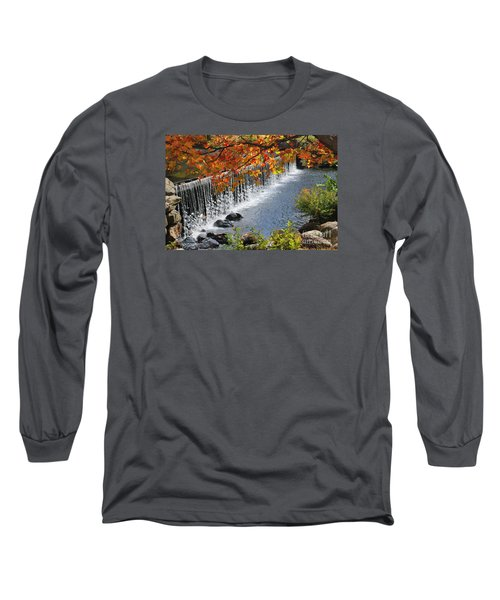Long Sleeve T-Shirt featuring the photograph Autumn Dam by Debbie Stahre