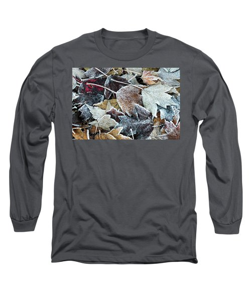 Long Sleeve T-Shirt featuring the photograph Autumn Ends, Winter Begins 1 by Linda Lees