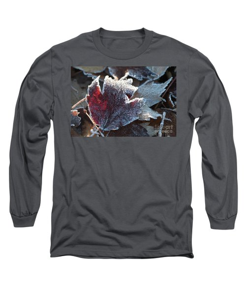 Long Sleeve T-Shirt featuring the photograph Autumn Ends, Winter Begins 2 by Linda Lees