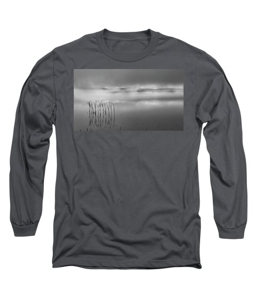 Long Sleeve T-Shirt featuring the photograph Autumn Fog Black And White by Bill Wakeley
