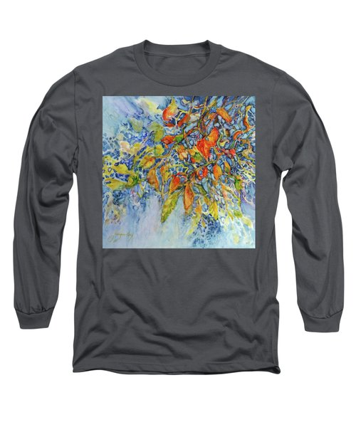 Long Sleeve T-Shirt featuring the painting Autumn Lace by Joanne Smoley