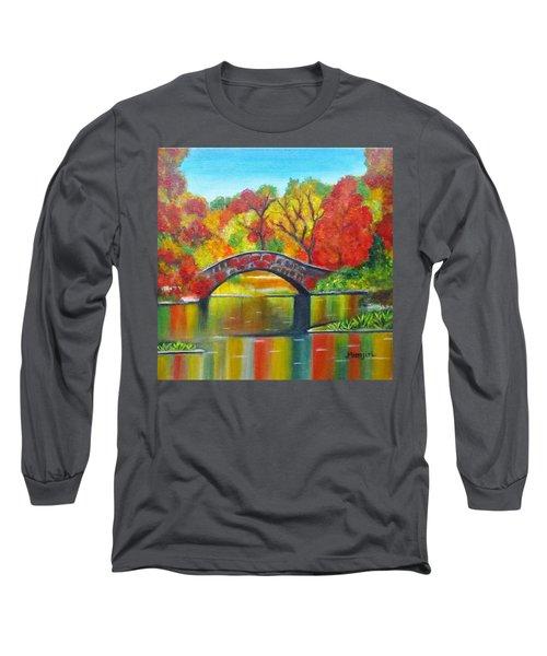 Autumn Landscape -colors Of Fall Long Sleeve T-Shirt