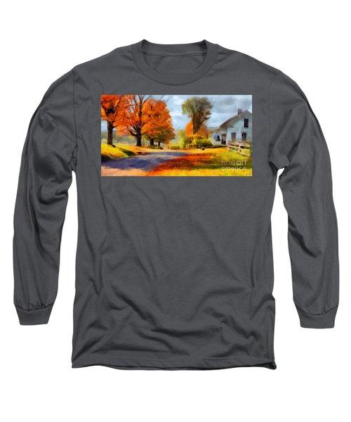 Autumn Landscape Long Sleeve T-Shirt by Sergey Lukashin