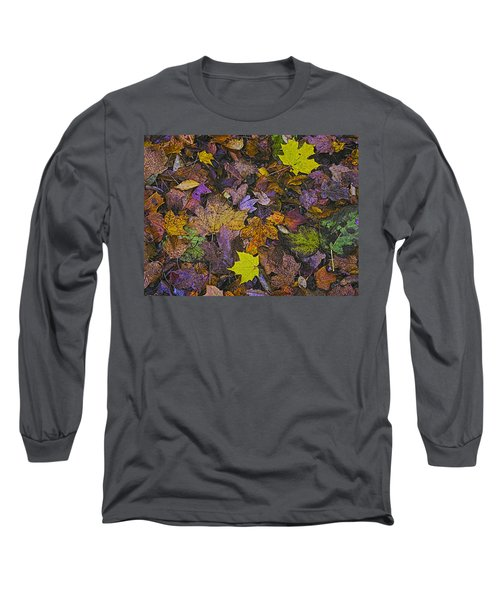 Autumn Leaves At Side Of Road Long Sleeve T-Shirt
