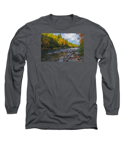 Autumn Morning Light On The Snoqualmie Long Sleeve T-Shirt by Ken Stanback